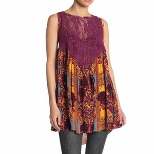 NWT Free People Count Me In Trapeze Tunic Top
